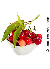 Cherry, isolated on a white background