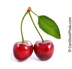 Cherry isolated on hite background.