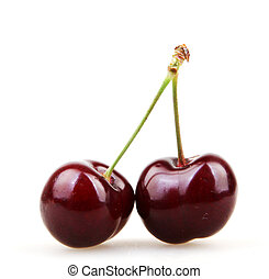 Cherry isolated on white background