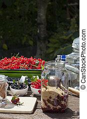 Cherry liqueur preparation, step 6