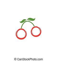 cherry logo vector icon
