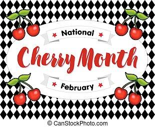 Cherry Month, February, Harlequin