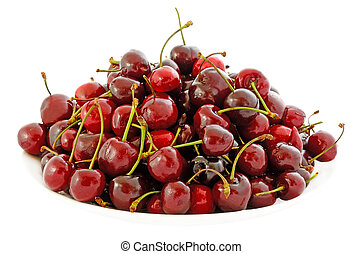 Cherry on a plate