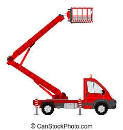 Cherry picker - Small bucket truck