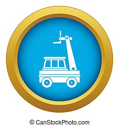 Cherry picker icon blue isolated on white background for any design