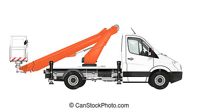 Cherry Picker Truck Illustration. Royalty Free Cliparts, Vectors, And Stock  Illustration. Image 91796632.