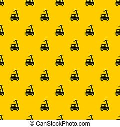 Cherry picker pattern seamless repeat geometric yellow for any design