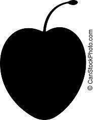 Cherry plum fruit icon