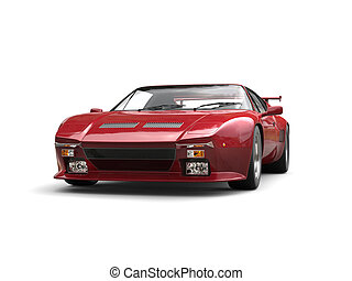 Cherry red eighties sports car