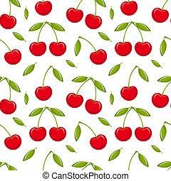 Cherry seamless - Cherries - seamless vector pattern
