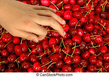 This fresh cherry fruits was imported from USA and sold in Hong Kong
