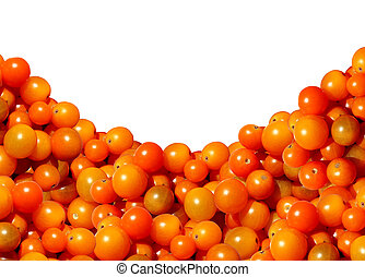 Cherry Tomato Border Design - Cherry tomato border with a...