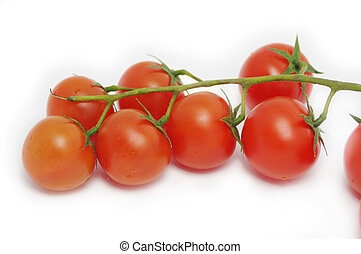 cherry tomato isolated on white background