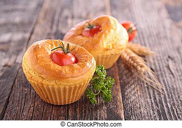 cherry tomato muffin, snack-appetizer