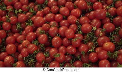 Cherry tomato sold in supermarket stock footage video