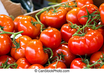 Cherry tomatoes at market