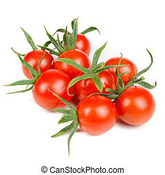 Cherry Tomatoes Isolated on White Background - Cherry...