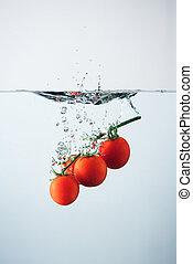 Cherry tomatoes splash