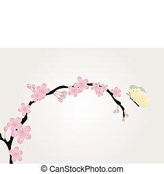 cherry-tree, ענף