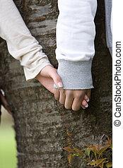 cherry tree and couple