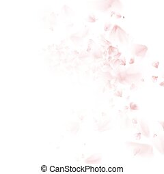 Cherry tree falling petal. EPS 10 - Blossoming sakura -...