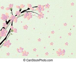 Cherry Vector blossom tree