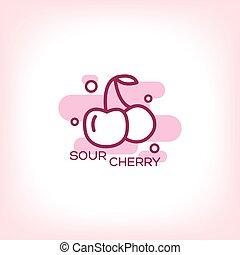 Cherry vector flat icon