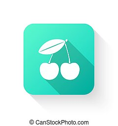 Cherry vector icon in a flat style