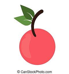 Cherry vegetable food symbol vector illustration graphic...