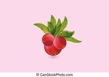 Cherry watercolor logo