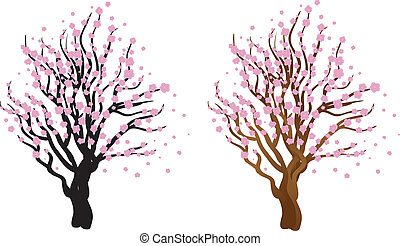 Cherry with blossom