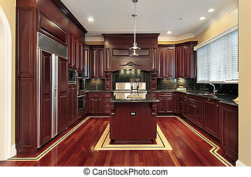 Cherry wood new kitchen