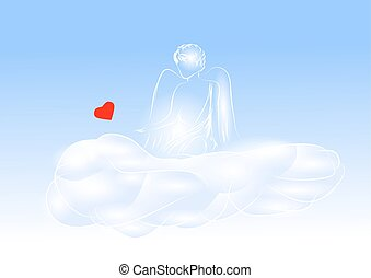 cherub with a heart