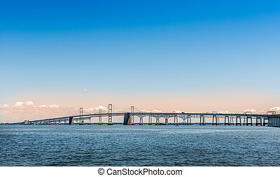 Chesapeake Bay Bridge in Marland - Chesapeake Bay Bridge in...