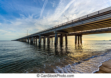 Chesapeake Bay Bridge - An early morning view of the Bay...