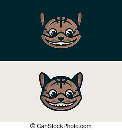 Cheshire cat at day and night