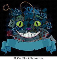 Cheshire Cat - Design of Cheshire cat on wonderland...