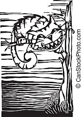 Cheshire Cat from from Lewis Carroll's Alice in Wonderland.