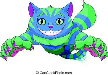 Cheshire Cat jumping