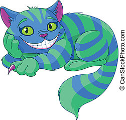 Cheshire Cat levitating in the air