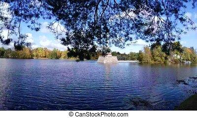 Chesme column. Pushkin. Catherine Park. Tsarskoye Selo. 4K....