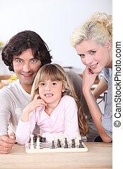 chess., 遊び, 家族