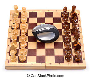 chess and computer mouse