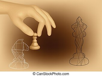 chess and hand