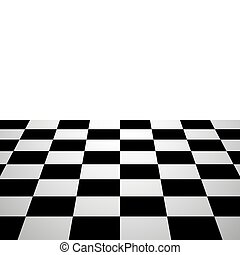 Chess board background perspective view
