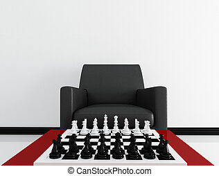 chess board before a match
