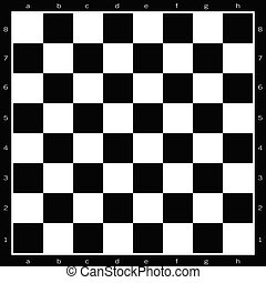 chess board black and white illustration