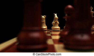 Chess board dolly shot