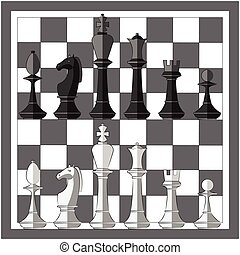 Chess board. Game. Icon set
