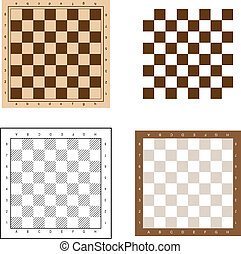 Chess board set vector illustration.